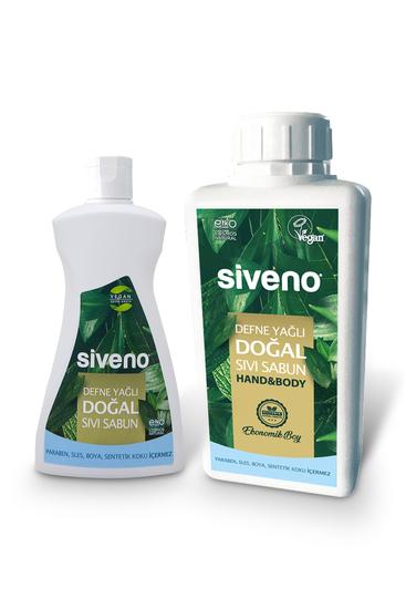 Doğal 2'li Set Defne Yağlı Doğal Sıvı Sabun 300 ml + 1L